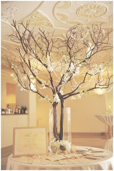 Rustic Branches with Crystal Accent #WeddingCenterpieces I Stylish Stems I http://www.weddingwire.com/biz/stylish-stems-woodstock/portfolio/e0dca186aa1a9827.html?page=5&subtab=album&albumId=4cec963fe0b301f2#vendor-storefront-content