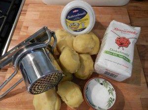 Münchner Rezepte: Bröselhafer alias Kartoffelschmarrn: Zutaten