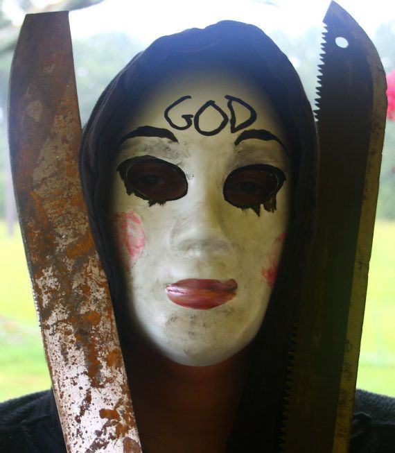 Custom made to order GOD mask doll face by DreamForrestDesigns, $49.99 Purge…