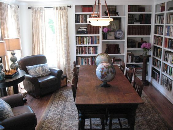 Dining And Library Combined The Perfect Homeschool Room