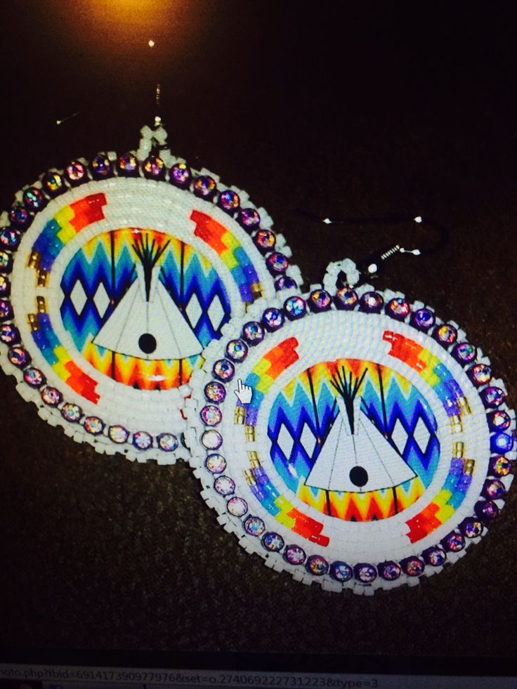 Native American Beaded Earrings Bead Work Pinterest
