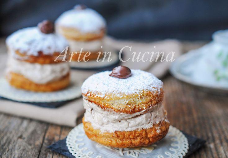 Tortine+sfogliate+alla+panna+e+nutella+ricetta+veloce
