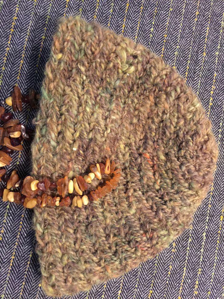 Viking, Norse, Anglo Saxon, Nalbinding hat, Hand spun wool, oslo stitch, alpaca, wool by Micheleshats on Etsy