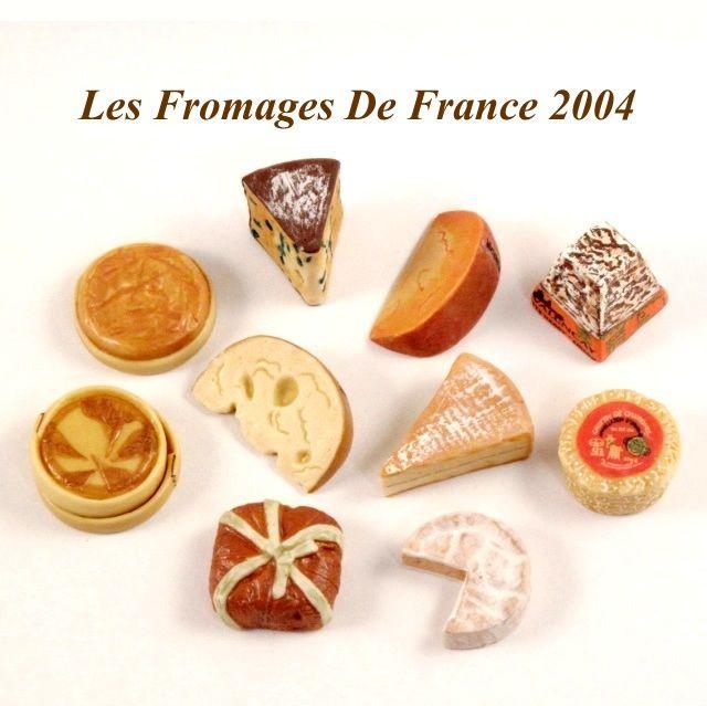 【フェーブ】LES FROMAGES DE FRANCE フランスのチーズ 10個 - EPI FOLIE 2004年