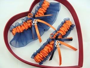 New Sexy Orange Navy Blue Wedding Garter SELECT SingleSetRegPlus Size Charm