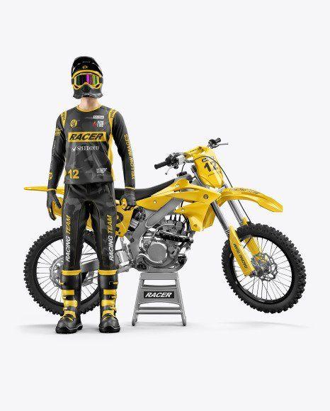 Download Motorcycle Jersey Mockup in 2020 | Motocross racing ...