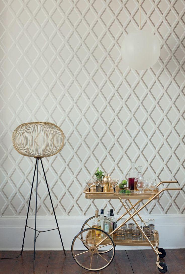 Meer dan 1000 ideeën over wit behang op pinterest   bruin behang ...