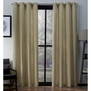 Copper Grove Ashclyst Faux Silk Grommet Top Window Curtain Panel Pair – N/ A (96 Inches – Chili), Red