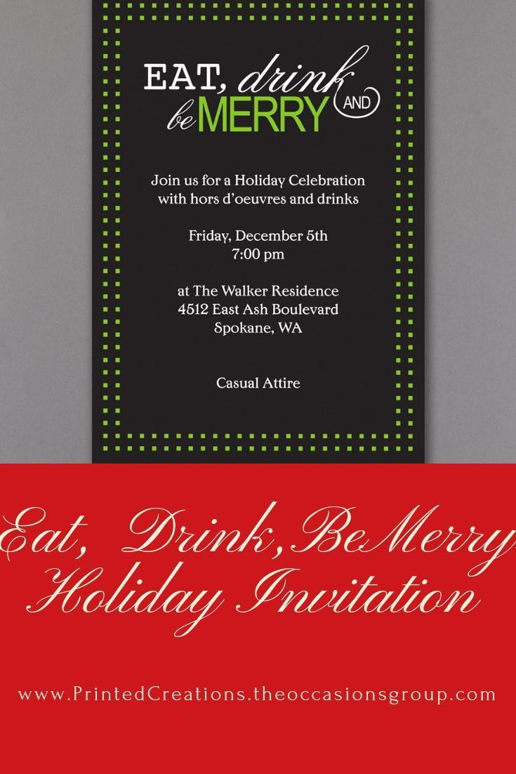 Invite guests to \'be merry\' at your holiday party with unique C ...