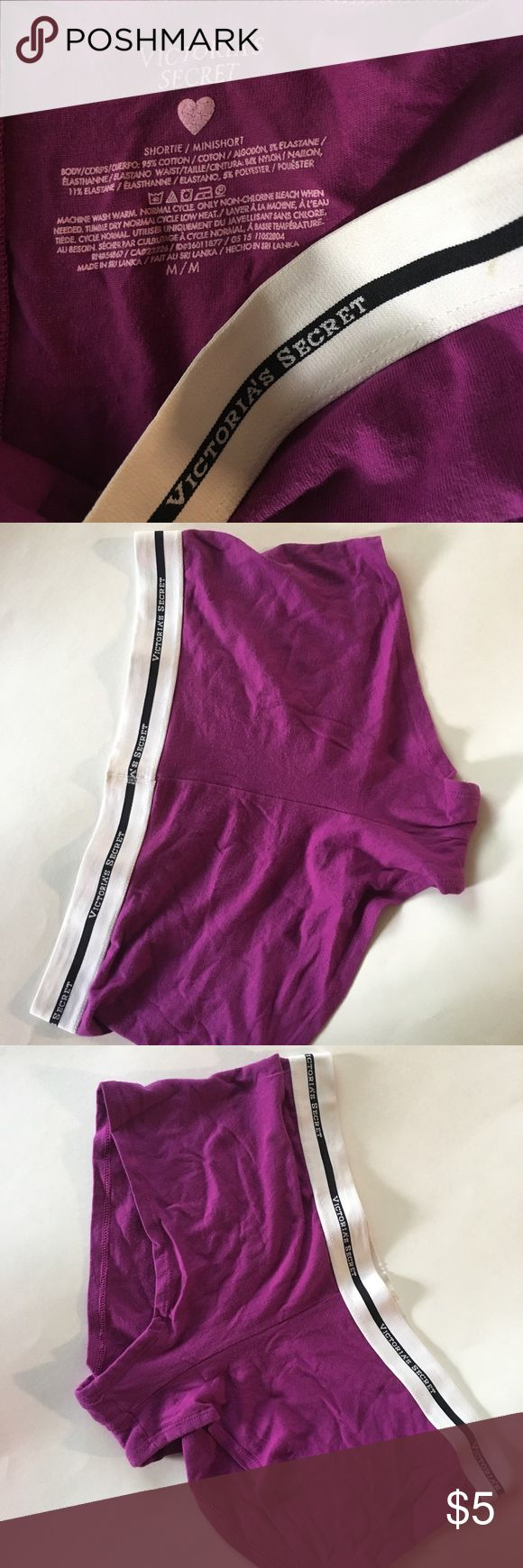 Victoria Secret Boxer undies Super cute Boxer Undies. I bought these in Canada because I didn't pack enough underwear for my trip. I used them once. In good condition! Size Medium Victoria's Secret Intimates & Sleepwear Panties