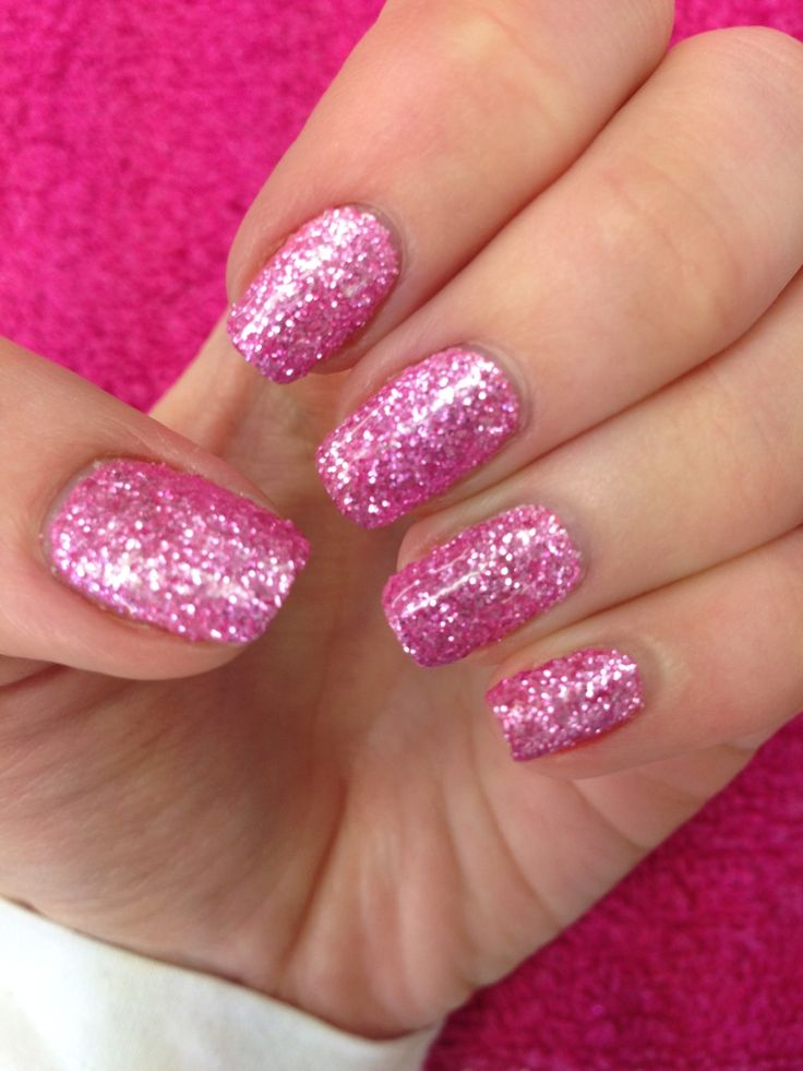Glitter Nail Trends: The 25+ Best Pink Glitter Nails Ideas On Pinterest