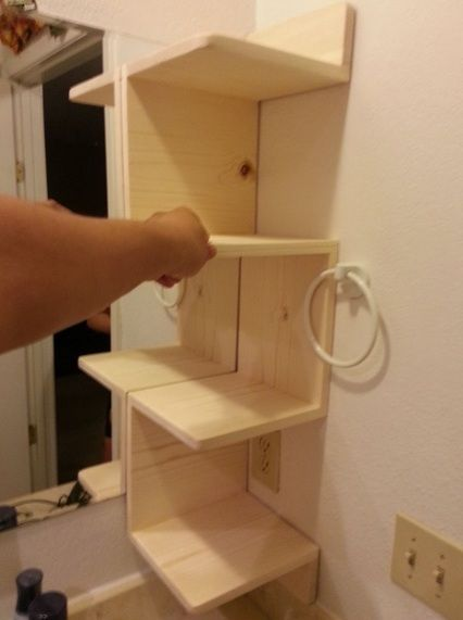 Diy Bathroom Shelves - Google Search Such A Great Idea For The Girls Bathroom. Seriously Gonna Have To See If This Can Be Worked Into The New Layout