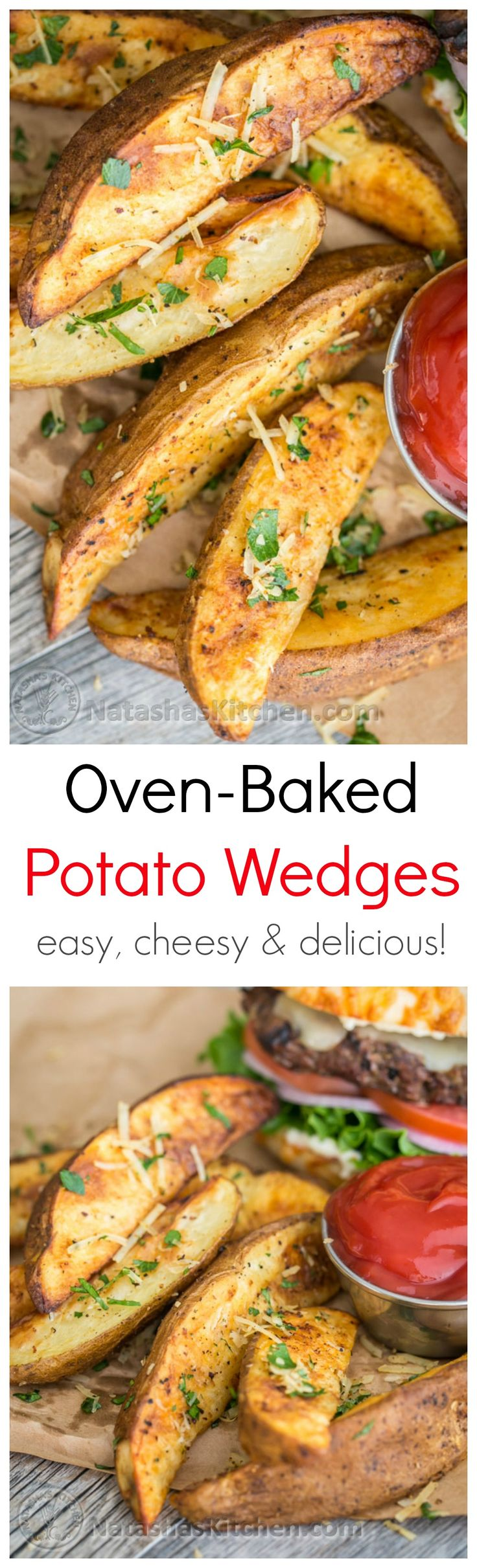 These oven baked potato wedges are crisp, easy and delicious every time. So good!! @natashaskitchen
