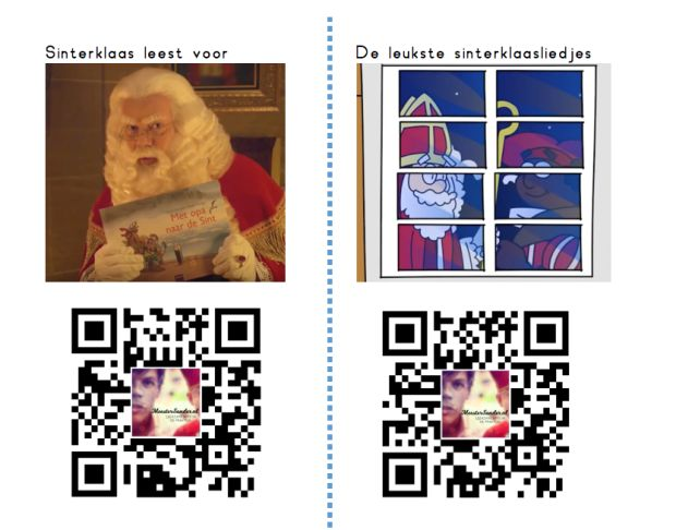 QR codes rond het thema Sinterklaas! Meestersander.nl