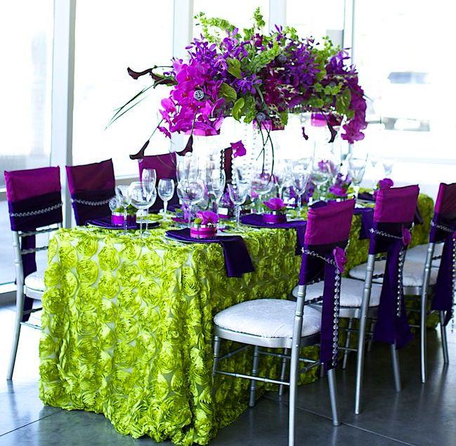 Purple And Green Wedding Ideas: 28 Sophisticated Wedding Centerpiece Ideas