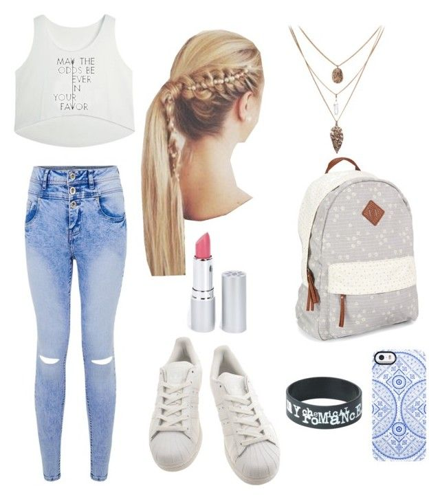 """Casual Blue-white"" by desi2003 on Polyvore featuring moda, adidas, Aéropostale, Uncommon y HoneyBee Gardens"