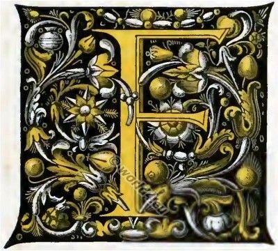Initial letter  Noctes Atticæ of Aulus Gellius