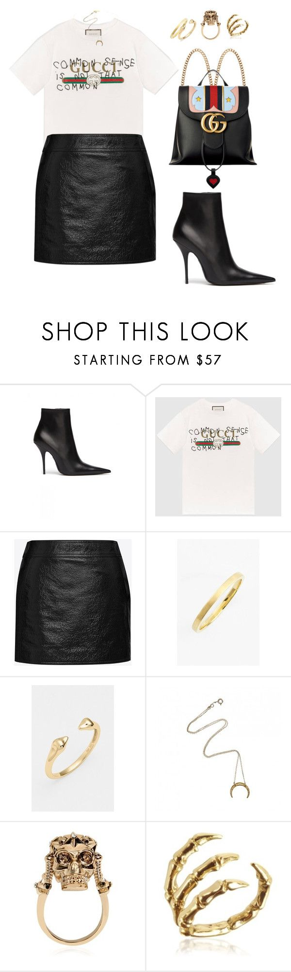 """""""Untitled #1080"""" by elipenaserrano ❤ liked on Polyvore featuring Balenciaga, Gucci, Yves Saint Laurent, Bony Levy, Alexander McQueen and Bernard Delettrez"""