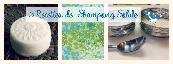 3 recettes de shampoing solide