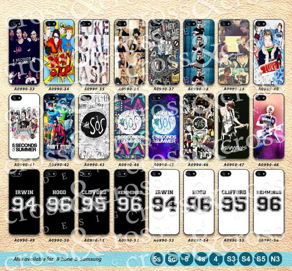 5 Seconds Of Summer iPhone 5 Case 5SOS iPhone 5c by CrossAndCross