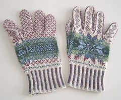 Fair Isle gloves -- from Alice Starmore