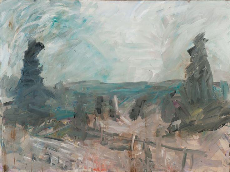 Tomáš Bambušek | Libín od Brenntenberga, 250x188cm, olej na plátně, 2014. Brenntenberg #madeinBUBEC