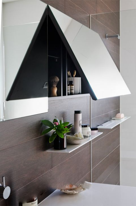 Modern classic bathroom with hidden agendas