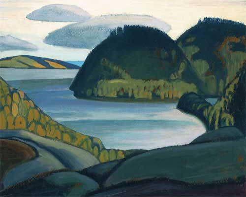 Coldwell Bay, North of Lake Superior, by Lawren Harris, ca.1923