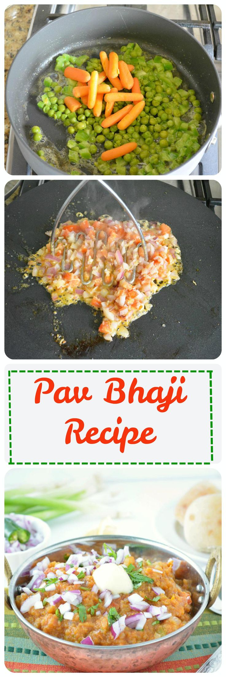 A lip smacking spicy mixed vegetable bhaji straight from the streets of Mumbai, enjoy it with homemade ladi pav. #bhaji #pavbhaji #streetfood #indianfoodcollection