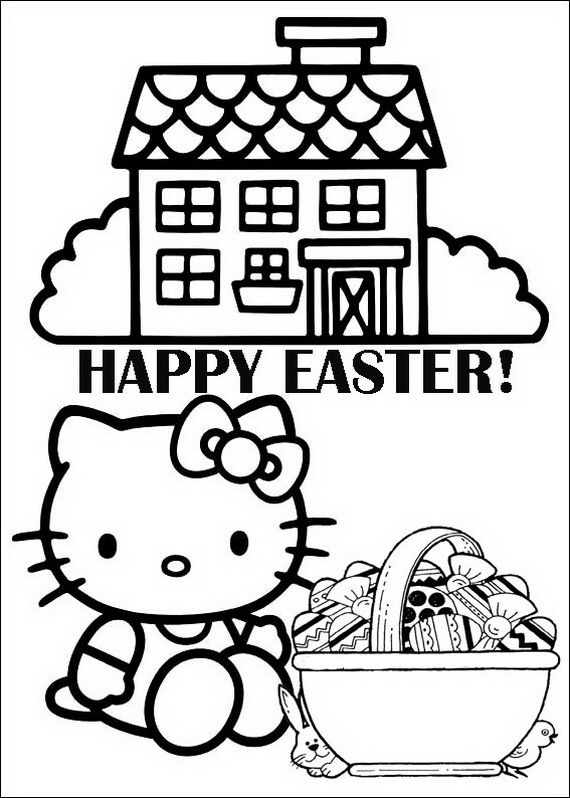 Easter Free Print Hello Kitty