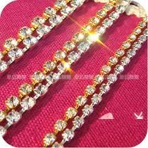 2pc gold and silver deco crystal chain 3mm diy phone deco etc | chriszcoolstuff - Craft Supplies on ArtFire