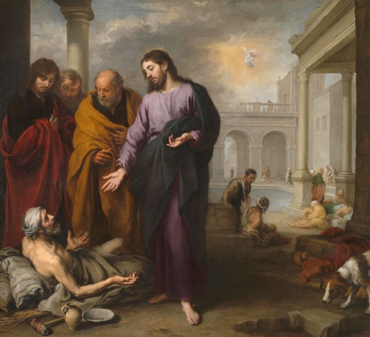 Bartolomé Esteban Murillo - Christ healing the Paralytic at the Pool of Bethesda…