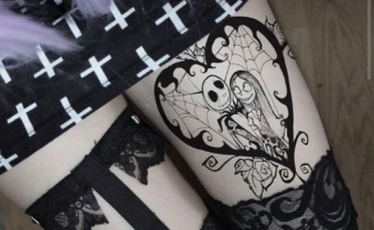 Y seguimos con Halloween, tatuajes de Jack Skellington - http://www.tatuantes.com/halloween-tatuajes-de-jack-skellington/