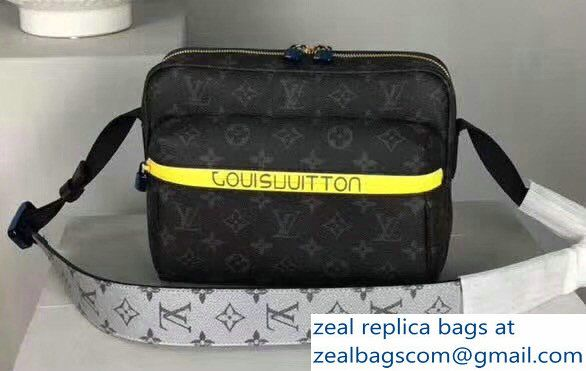 Louis Vuitton Men  s Messenger Monogram Eclipse Canvas Outdoor Bag 2018 bfba643853db6