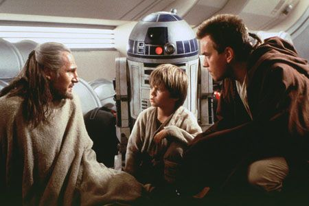 Anakin Skywalker, meet Obi-Wan Kenobi: War Episode, Liamneeson, Menace 1999, Stars War The Phantom Menace, Star Wars, Movie, Quigon, Starwars, Liam Neeson