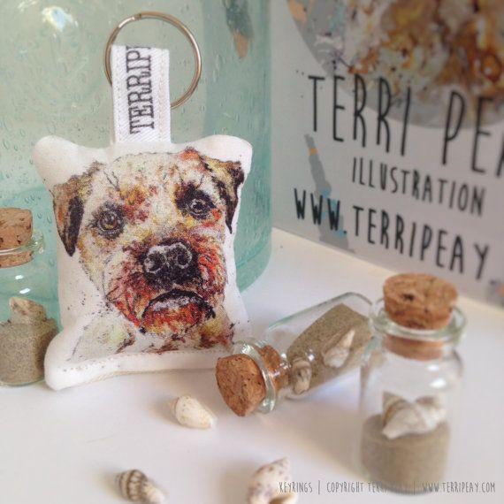 Animal Keyring Border Terrier  Handbag accessory Key