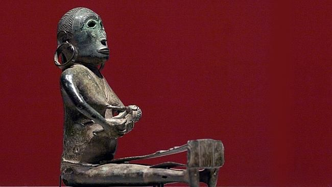 1400-year-old Indonesian Bronze Weaver figure (NGA  Canberra bought the Bronze Weaver in 2006 for $4.25 million from George Ortiz, a collector notorious for his disregard of heritage conventions)