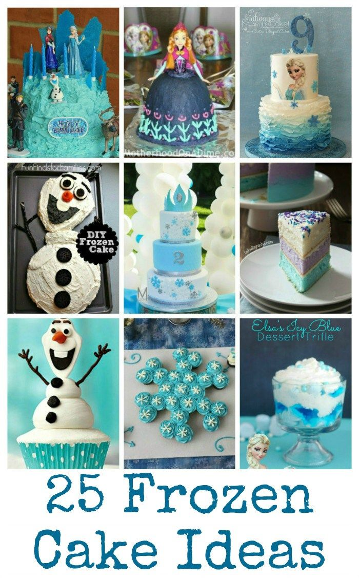 25 awesome Frozen cakes and party food ideas perfect for Frozen parties, ideas featuring Anna, Elsa, Olaf, snowflakes or Frozen colour scheme