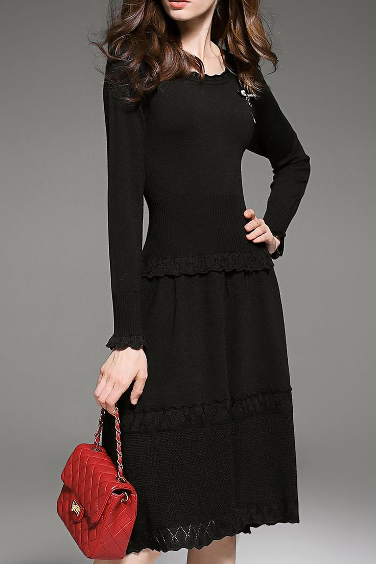Shop sunpin black long sleeve midi dress here, find your midi dresses at  dezzal, huge selection and best quality.