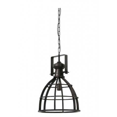 Hanglamp Amy metaal antiek zwart