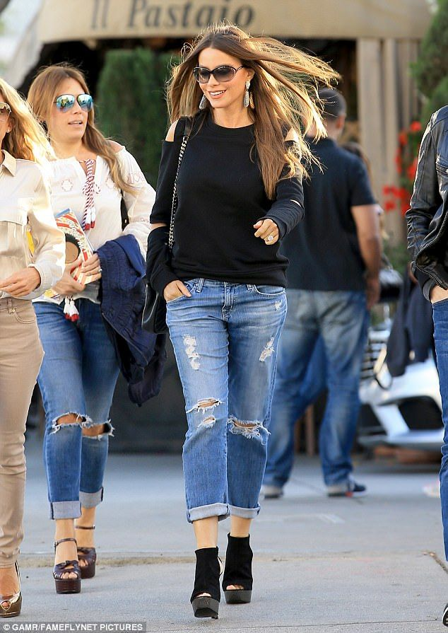 Always chic:She loves to glam up for a red carpet. But Sofia Vergara also has an impeccab...