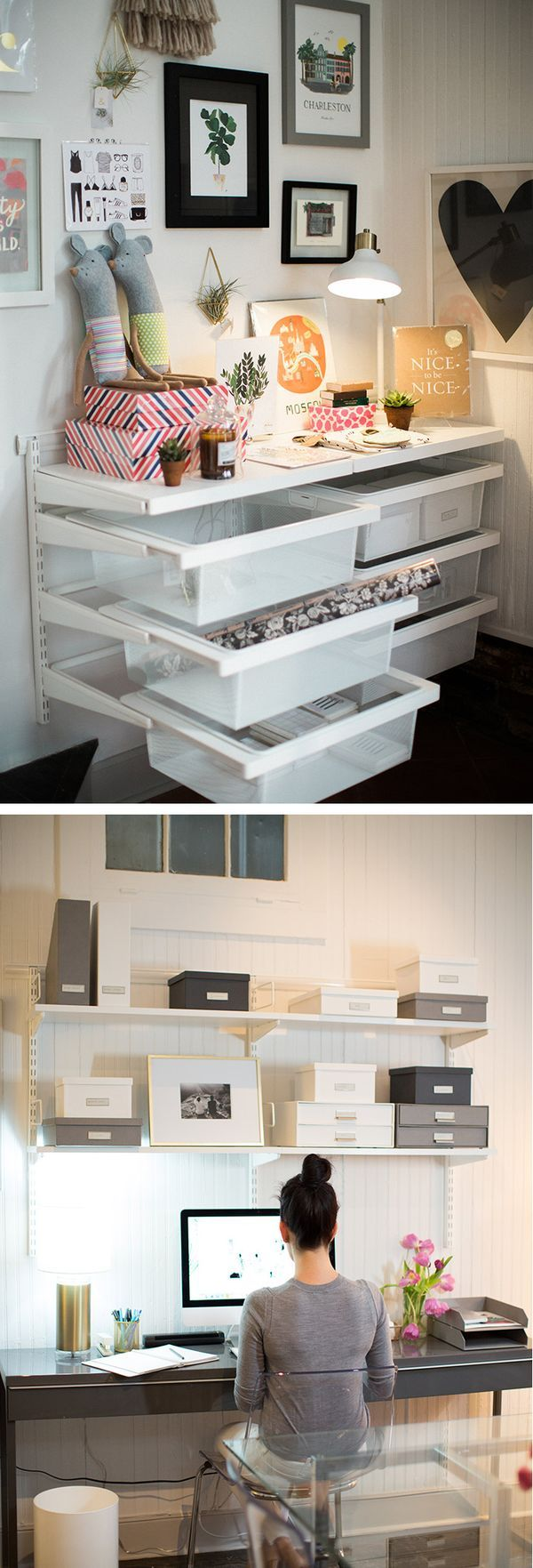 Container Store Home Office Ideas