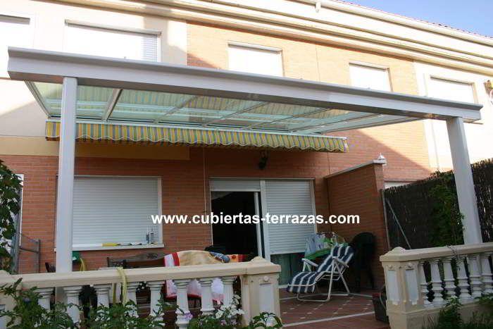 Terraza cubierta de estructura de aluminio con - Estructuras de aluminio para terrazas ...