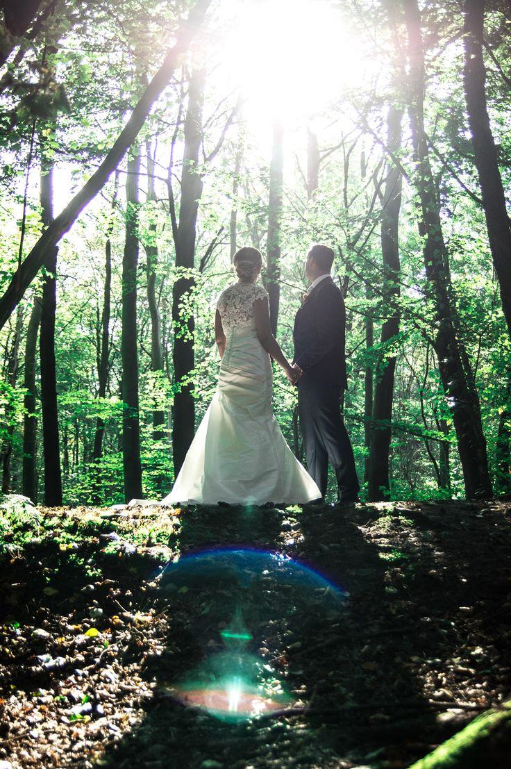 De schitterende Huwelijksdag Sjaak en Wendy, met de weddingShoot in het prachtige Waterloop bos te Kraggenburg Marknesse. Samen zoeken naar de mooiste momenten om vast te leggen. Kijkend naar het mooie licht gefilterd door de bomen. Wat waren ze mooi en verliefd dit stel uit Vollenhove.