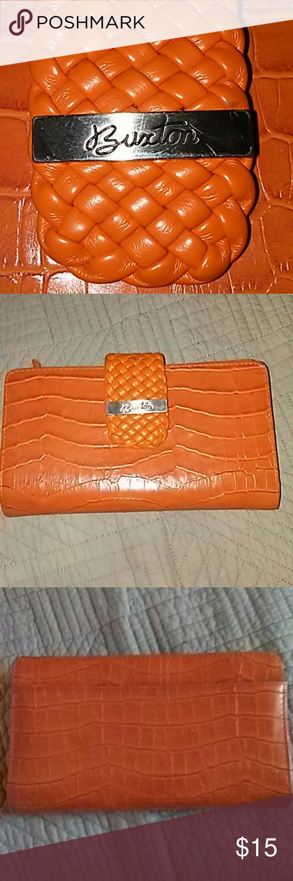 Buxton wallet Cute orange wallet. In great condition. Buxton Bags Wallets