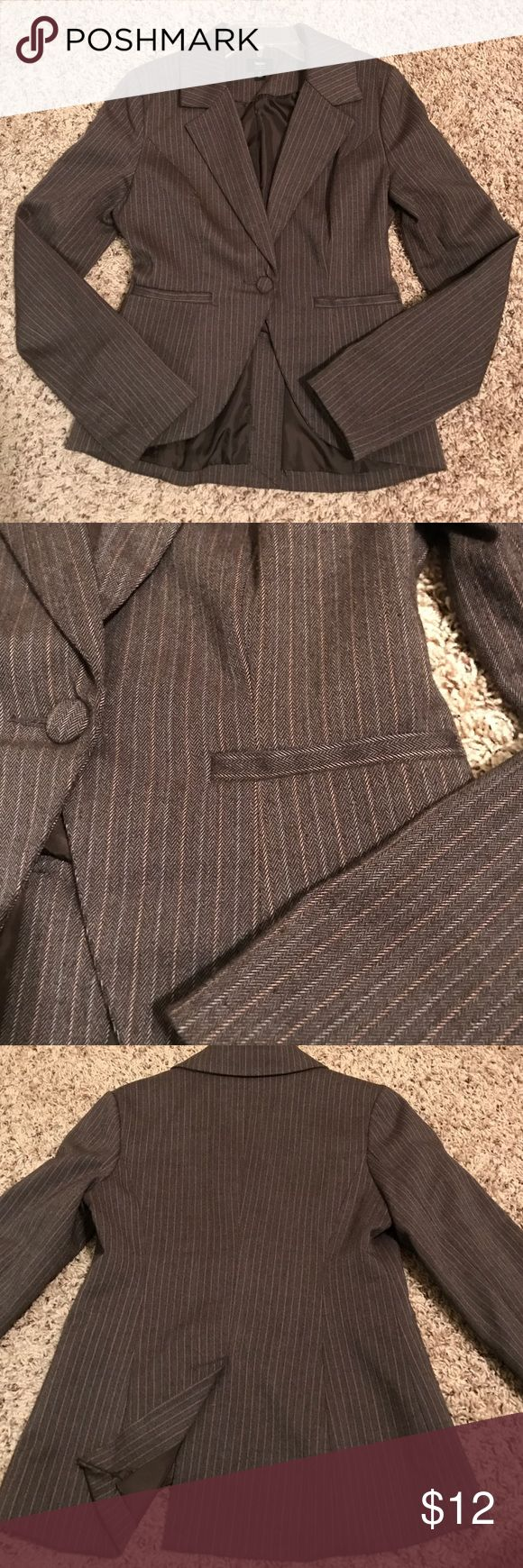Brown Striped Blazer Brown striped blazer in good used condition. Some pilling under the arm. Mossimo Supply Co Jackets & Coats Blazers