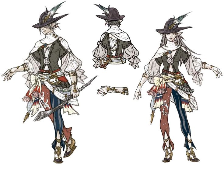 Final Fantasy XIV 2.0| Jobs Concept - by Akihiko Yoshida