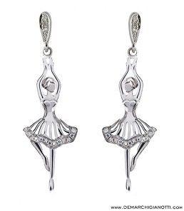 Tutù Gioielli orecchini in argento e zaffiri bianchi  modello swor-estate www.demarchigianotti.com