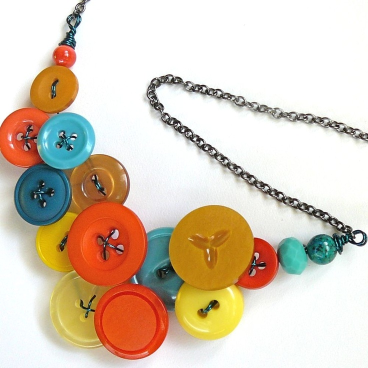 Best I Can Make That Jewelry Images On Pinterest Diy Jewelry - Bright diy layered button necklace