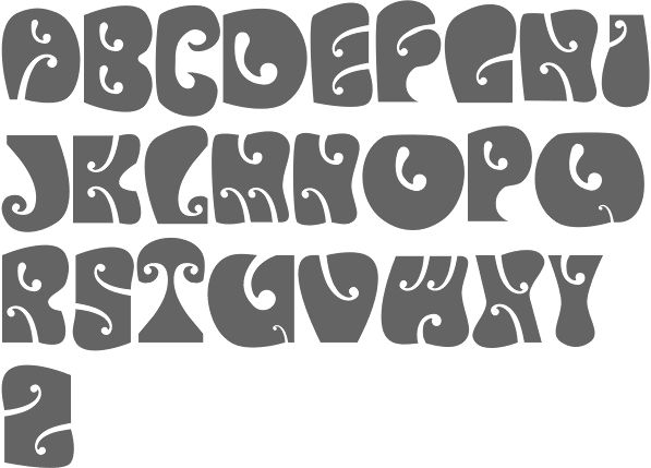 MyFonts: Psychedelic faces